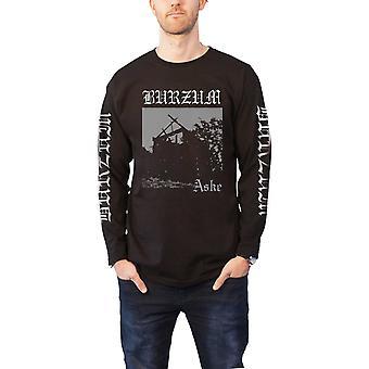 Burzum T Shirt Aske Band Logo new Official Mens Black Long Sleeve