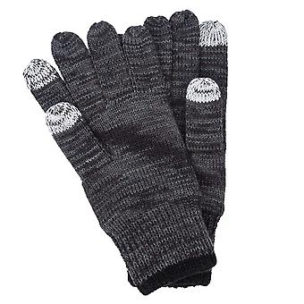 Mens New Balance Knitted Gloves In Black Marl