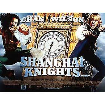 Shanghai Knights (kaksipuolinen) alkuperäinen elokuva juliste