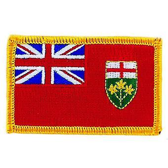 Patch Ecusson Brode Drapeau Ontario FlagThermocollant Kanada