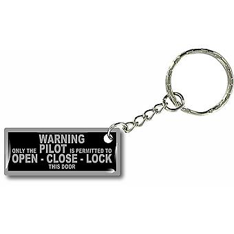 Door Cles Key Keychain Car Moto House Aviation Warning Only Pilot Plane