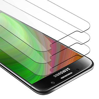 Cadorabo Tank Foil for Samsung Galaxy S6 - 3 Pack Hardened (Tempered) Display Protective Glass in 9H Hardness with 3D Touch Compatibility