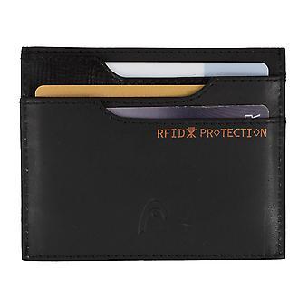 TÊTE mens carte titulaire carte titulaire carte de crédit avec puce RFID protection noir 7444