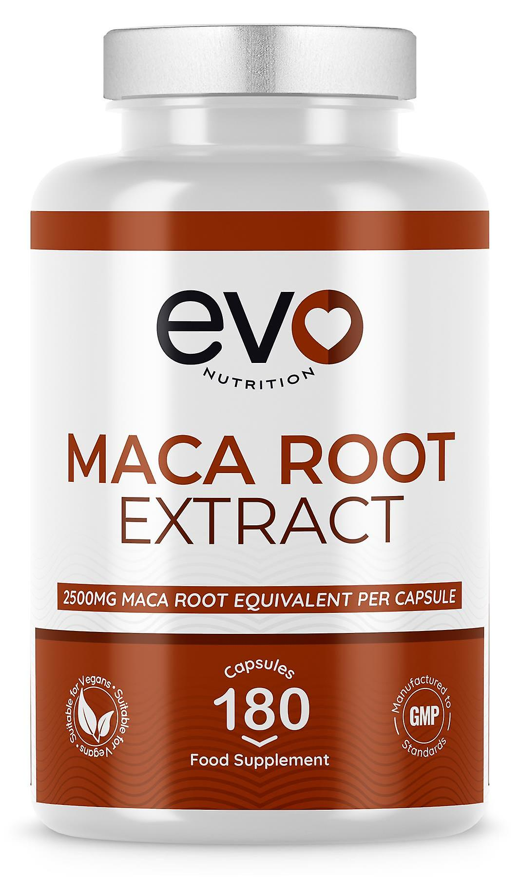 Maca Root Extract (180 Capsules) 2500mg High Strength - Evo Nutrition