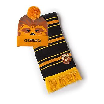 Star Wars Chewbacca Bobble Beanie & Scarf Gift Set Unisex Multi-colour