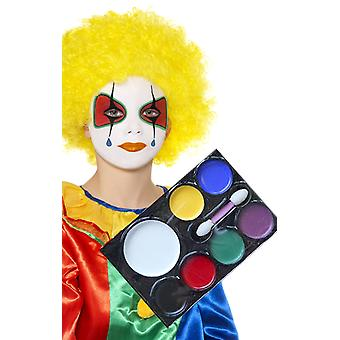 Gezicht verf palet clown make-up fancy dress