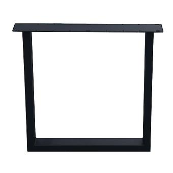 Pata de mesa U negra 72 cm (tubo 10 x 4)
