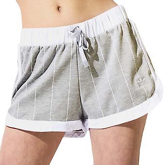 Adidas Originals naisten rento joustava vyötärö raidallinen löysä shortsit-harmaa