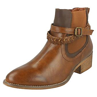 Ladies Down To Earth Heeled Ankle Boots