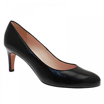 Peter Kaiser Bene Black Patent High Heel Court Shoe
