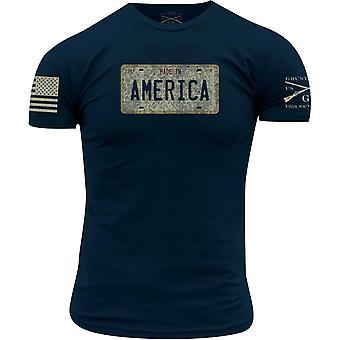 Grunt Style Cruisin ' USA T-paita-laivastonsininen
