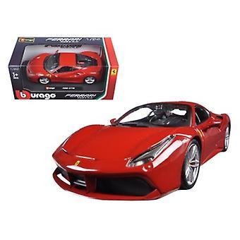 Ferrari 488 GTB Red 1/24 Diecast Model Car par Bburago