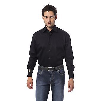 メンズ ブラック ビリオネア ロング スリーブ シャツ