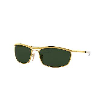 Ray-Ban Olympian Deluxe RB3119M 001/31 Gold/Green Sunglasses