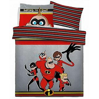 Incredibles Childrens / Kids Saving The Day Double Dekbed Set