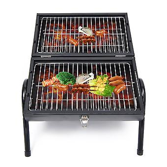 Outsunny New Portable Charcoal Trolley Barbecue Grill - Black