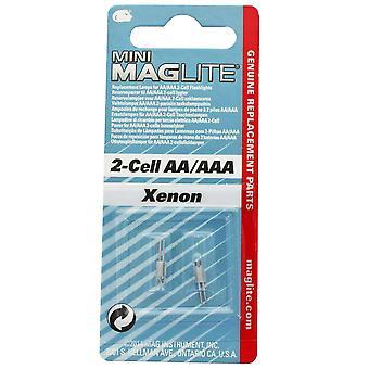 MAGLITE Mini Xenon, vervangende lamp, gebruik met 2-cel AA/AAA-batterij #LM2A001