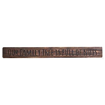 Onze stamboom rustiek houten bericht plaque