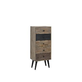 Light & Living Cabinet 45x31x110cm Barico Weathered Wood-Antique Grey
