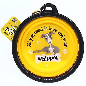 Wags & Whiskers Travel Pet Bowl - Whippet