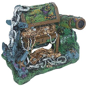 Ica Cannon and Coffer Ornament (Fish , Decoration , Rocks & Caves)