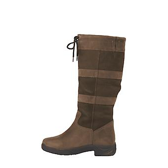 Dublin River Boots With Waterproof Membrane - Chocolate Wide Calf