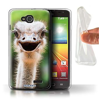 STUFF4 Gel TPU Case/Cover for LG L90/D405/Ostrich/Emu/Wildlife Animals