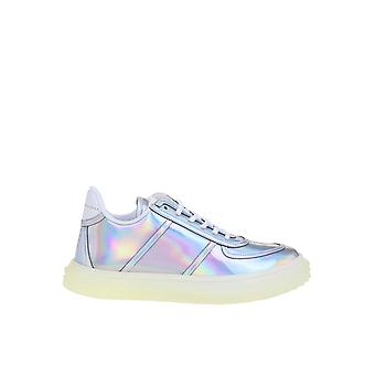 Giuseppe Zanotti Design Rs00027001 Women's Silver Leather Sneakers