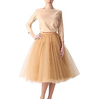 Wedding Planning Women's A Line Short Knee Length Tutu Tulle Prom Party Skirt...
