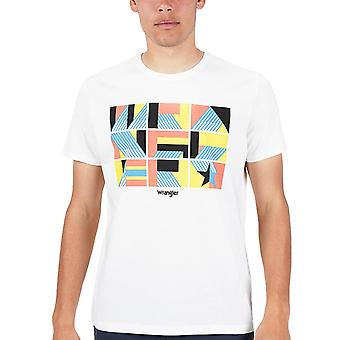 Wrangler Mens Unity Casual Regular Fit Rundhals T-Shirt Top T-Shirt - Off White