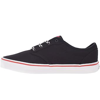 Vans Kids Juniors Atwood Canvas Low Top Casual Trainers Shoes - Preto/Branco