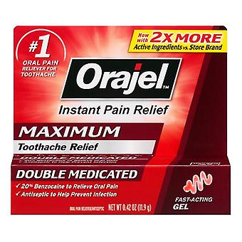 Orajel instant toothache pain relief maximum strength gel, 0.42 oz