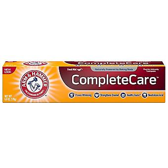 Arm & hammer complete care toothpaste plus whitening, fresh mint, 6 oz