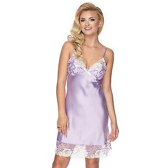 Irall Women's Andromeda Lavender Pink Floral Lace Night Gown Loungewear Nightdress