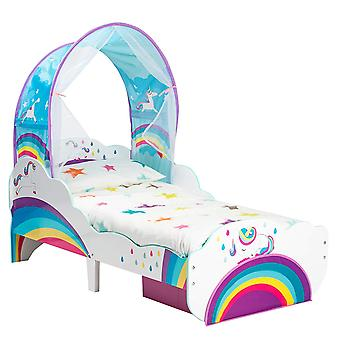 Wooden cot Unicorn with canopy