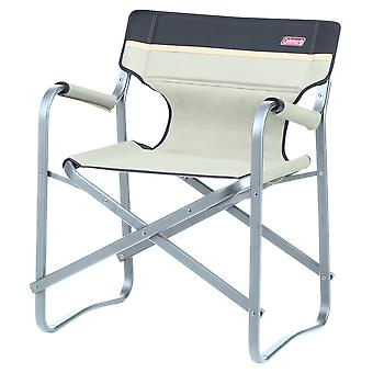 Lightweight Folding Deck Chair Green / Khaki - Coleman