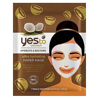 Yes to coconut paper sheet mask single pack, 1 ea
