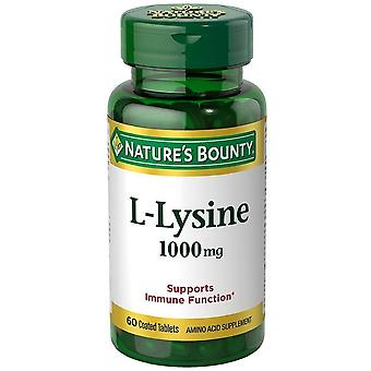 Nature's bounty l-lysine 1000 mg tabletten, 60 ea