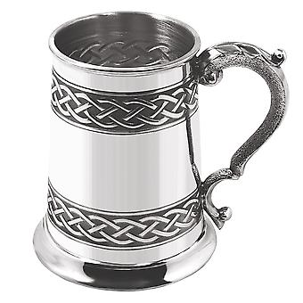 1 Pint Embossed Celtic Band Tankard