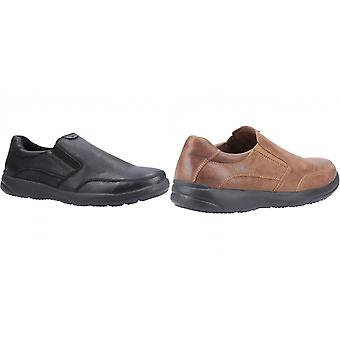 שקט גורים Mens אהרון להחליק על נעלי עור