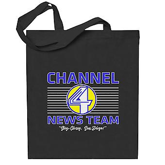 Anchorman Channel 4 News Team Logo Totebag