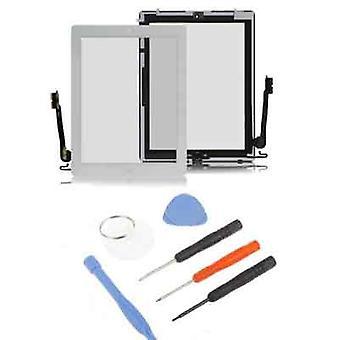 iPad 4 numériseur verre écran tactile blanc