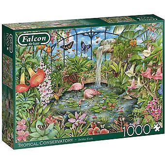 Falcon De Luxe Puzzle 1000 Piece Tropical Conservatory