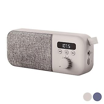 Portable Digital Radio Energy Sistem Fabric Box FM 1200 mAh 3W/Blue