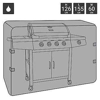 Charles Bentley Universal waterdichte gas Houtskool BBQ cover grote 4-5 brander-zwart