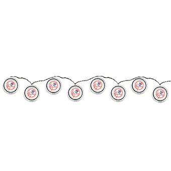 New York Yankees Logo 10 LED Disc String Light Set 8 1/2 Feet Long NYY