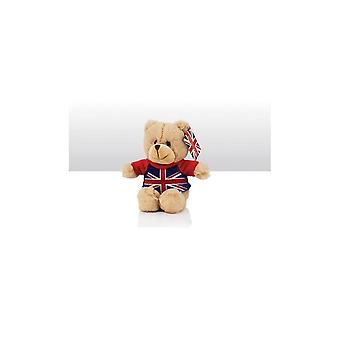 Union Jack Wear Teddy Bear With Union Jack T-Shirt - 15cm Tall