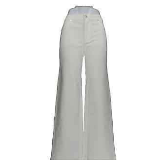 Isaac Mizrahi Live! Damen's Hose Ponte stricken volles Bein weiß A263890