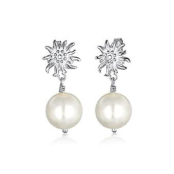 Elli Donna 925 argento Rotonda Finta perla