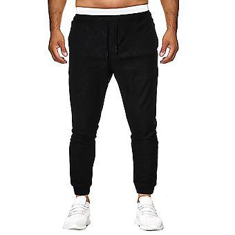Allthemen Men-apos;s Elasticated Waist Trousers Casual Slacks Sweatpants